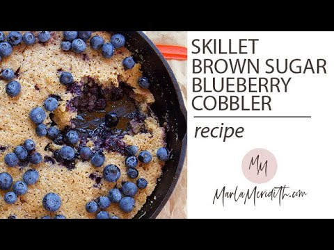 Skillet Brown Sugar Blueberry Cobbler Recipe