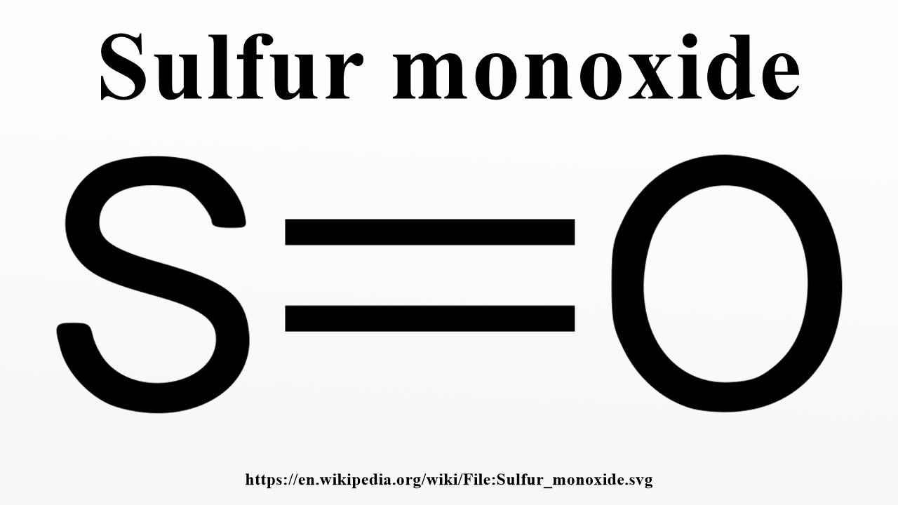 Sulfur monoxide youtube pooptronica Image collections