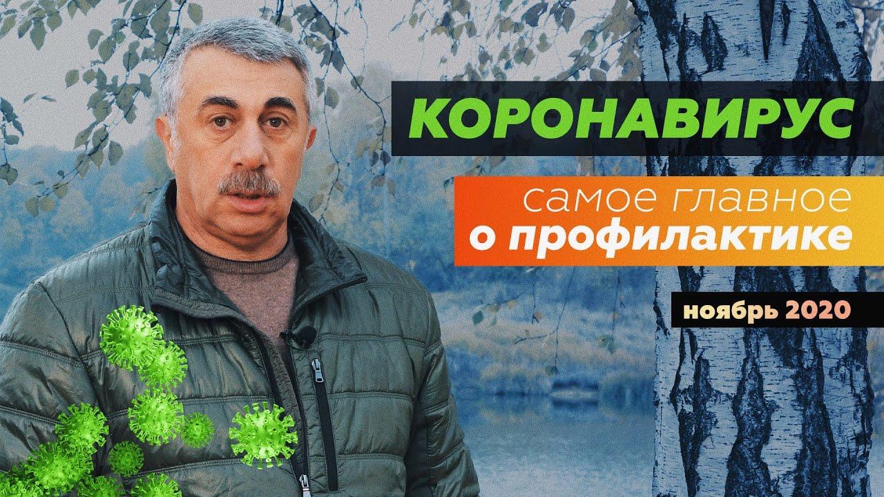 Доктор Комаровский от 12.11.2020 Коронавирус. Самое главное о профилактике на сегодня | Ноябрь 2020.
