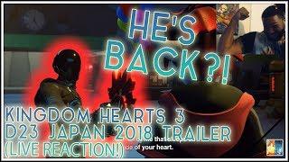 HE'S BACK?!?!: KINGDOM HEARTS 3 D23 JAPAN 2018 (Monster's INC.) TRAILER LIVE REACTION!