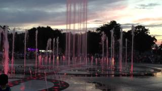 Amazing fountain in Krasnodar City, Russia
