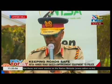 NTSA hands road safety enforcement equipment to police thumbnail