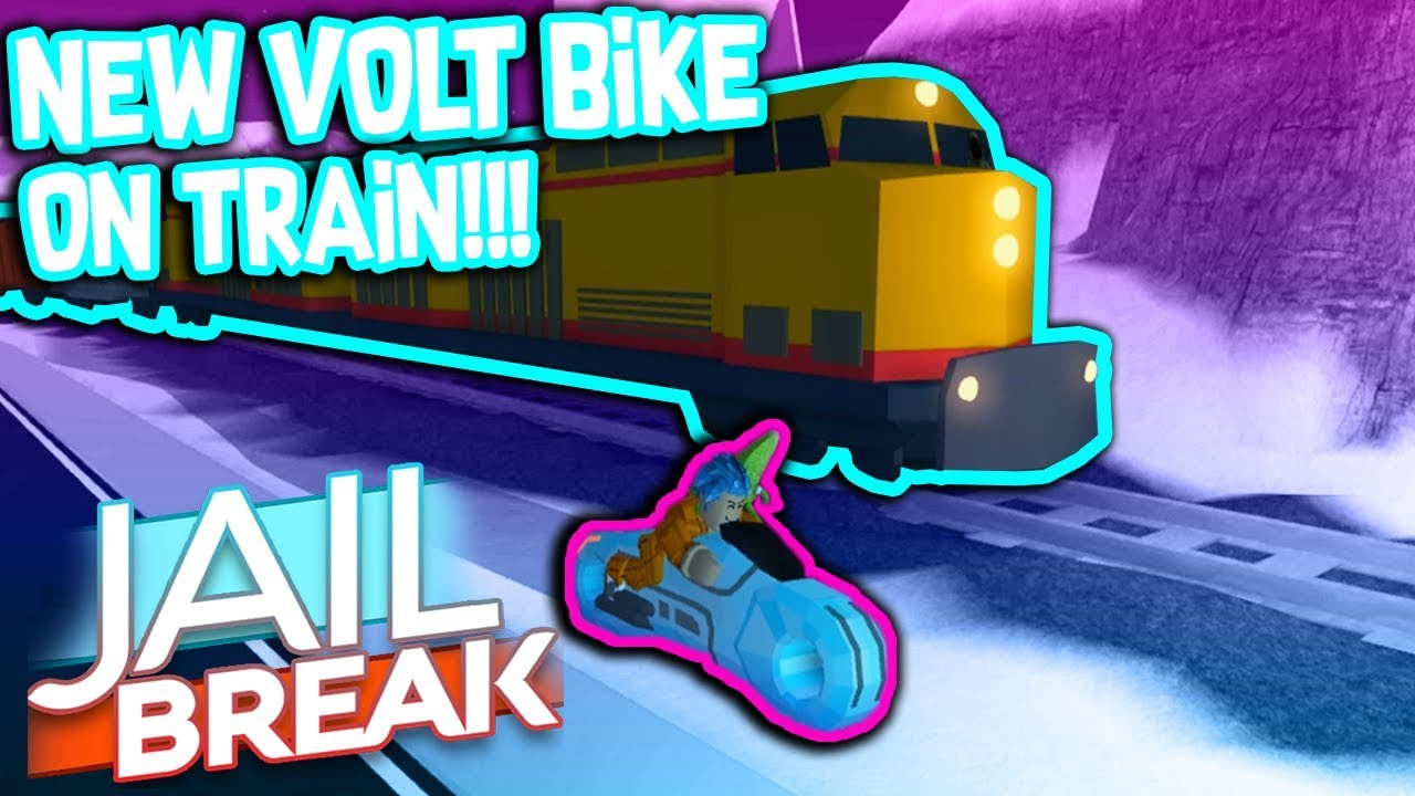 driving the new volt bike onto the train     roblox