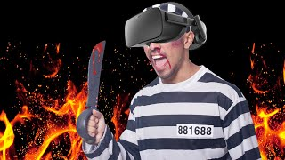 Practicing the prison shank in VR before I go to jail in real life