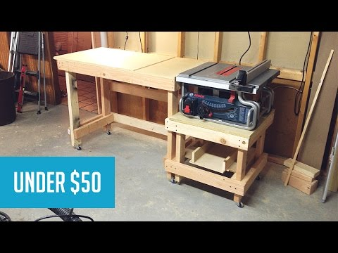 Mobile Tablesaw Station Part 1