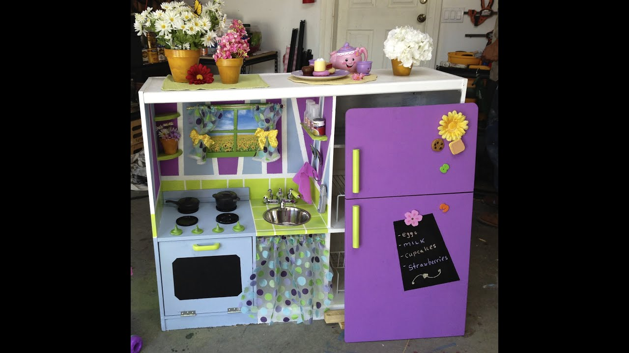 PART ONE Toddlers DIY Play Kitchen   DIY By Tanya Memme (As Seen On Home U0026  Family)   YouTube