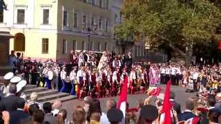 День города. Одесса празднует 220-летие. Возложение цветов Дюку Ришелье. Открытый урок истории