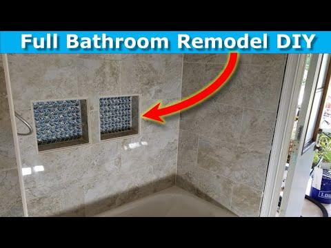 Bathroom Renovation DIY Shower Niches: Shower Tile Ideas