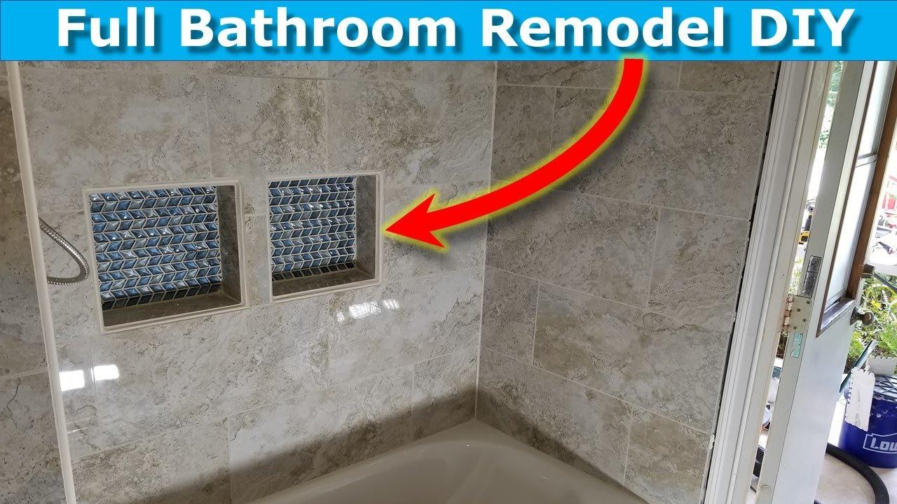 bathroom renovation diy shower niches shower tile ideas