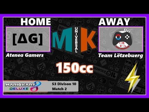 [Mario Kart 8 Deluxe] Atena Gamers vs. Team Luxembourg 103#