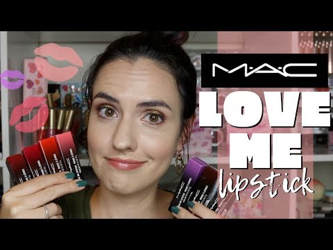 NEW MAC Love Me Lipstick | Lip Swatches Of 14 Shades + Extended Bloopers
