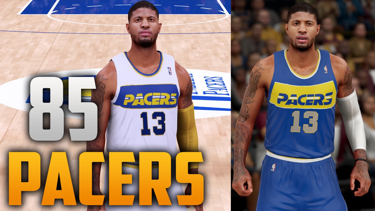 98ea42e1e76 NBA 2K16 1985 Indiana Pacers Jersey & Court Tutorial - YouTube