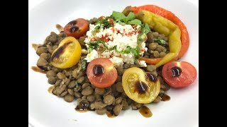 Салат из чечевицы | Что приготовить из чечевицы | Диетический ужин