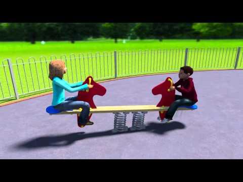 Seahorse Seesaw - Playground Equipment