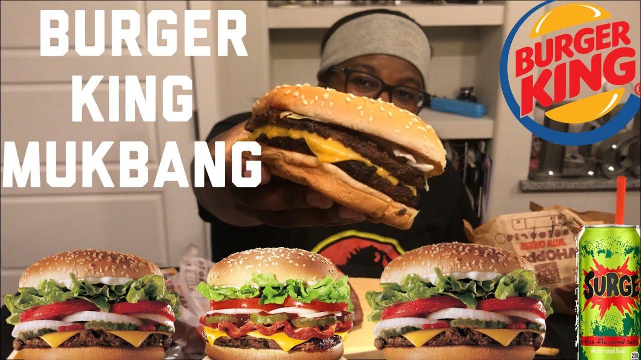 Burger King Mukbang Double Whopper Whopper Jr Eating Show Abc Series