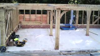 How To Build An Oak Garage Time Lapse