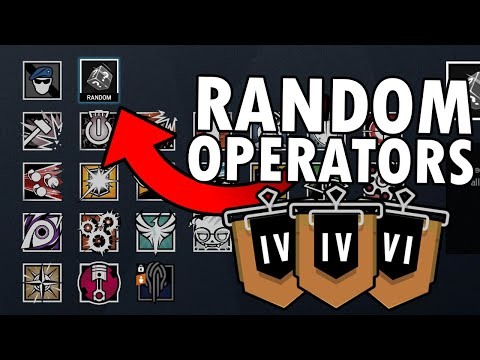 Can You Win A Ranked Game Using Random Operators Only? - Rainbow Six Siege |