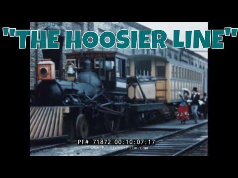 "MONON RAILROAD INDIANA ""THE HOOSIER LINE"" PROMOTIONAL FILM 71872"