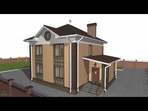 Типовой проект двухэтажного дома с 5-ю спальнями  C-092-ТП