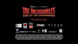 The Incredibles: Rise of the Underminer (2005) video game promo (60fps)