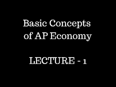 Lec 1 || Andhra Pradesh Economy for APPSC Groups || Basic concepts of AP state economy