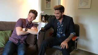Download Chris Colfer & Adam Lambert  after The Talk answer some of your questions Mp3 and Videos