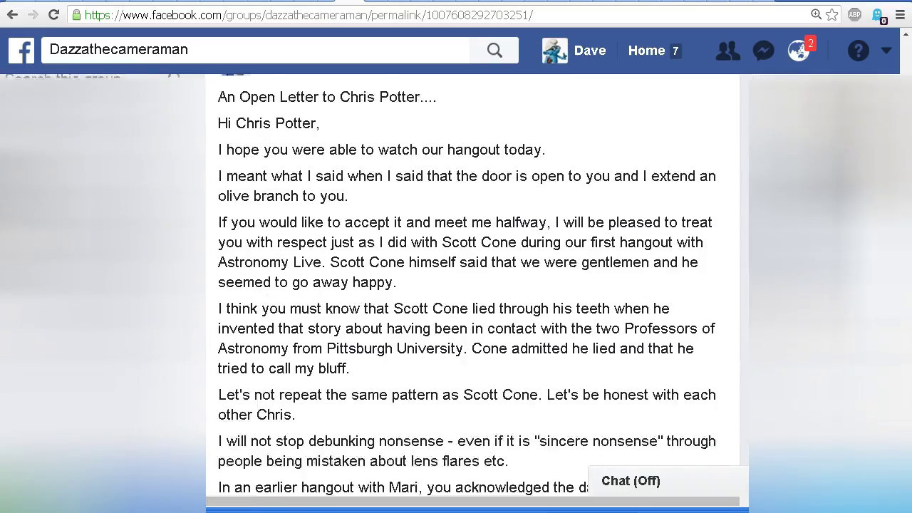 An Open Letter to Chris Potter