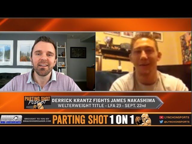 LFA 23's Derrick Krantz talks welterweight title defence Friday against James Nakashima
