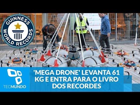 'Megadrone' Levanta 61 Kg E Entra Para O Livro Dos Recordes