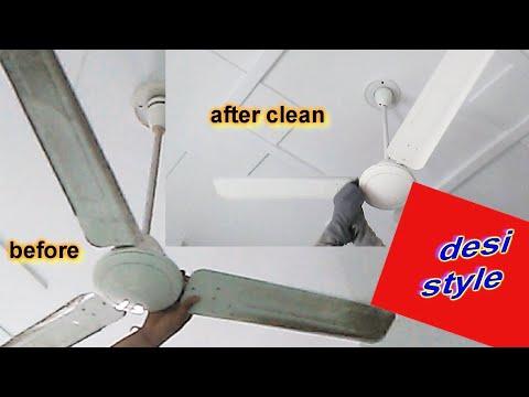 How to clean Fan / ना मीठा सोडा, ना सिरका, / Without spreading dust on floor / Ceiling Fan Cleaning