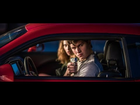 Baby Rides Red Dodge Challenger   1080 P   Baby Driver 2017