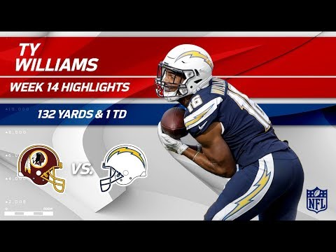 Tyrell Williams' 132 Receiving Yards & 1 TD! | Redskins vs. Chargers | Wk 14 Player Highlights