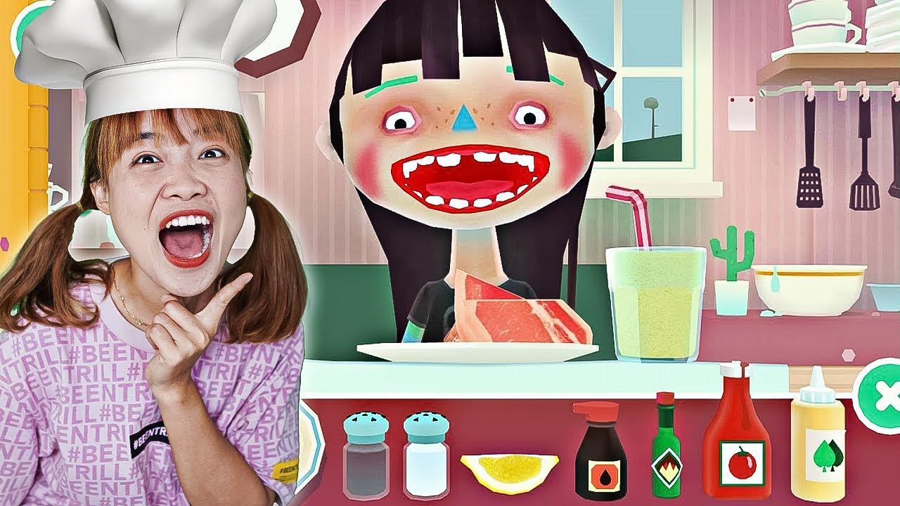 Download Hà Sam Lần Đầu Tiên Làm Đầu Bếp Nấu Ăn Cho Người Ngoài Hành Tinh - Toca Kitchen 2