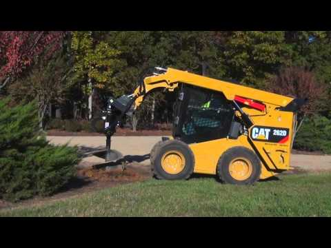 Cat® Auger Work Tool Attachment at Work