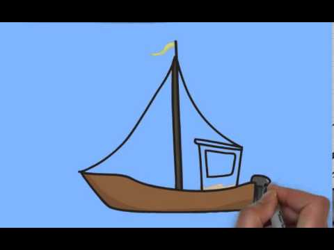 how to draw a ship youtube