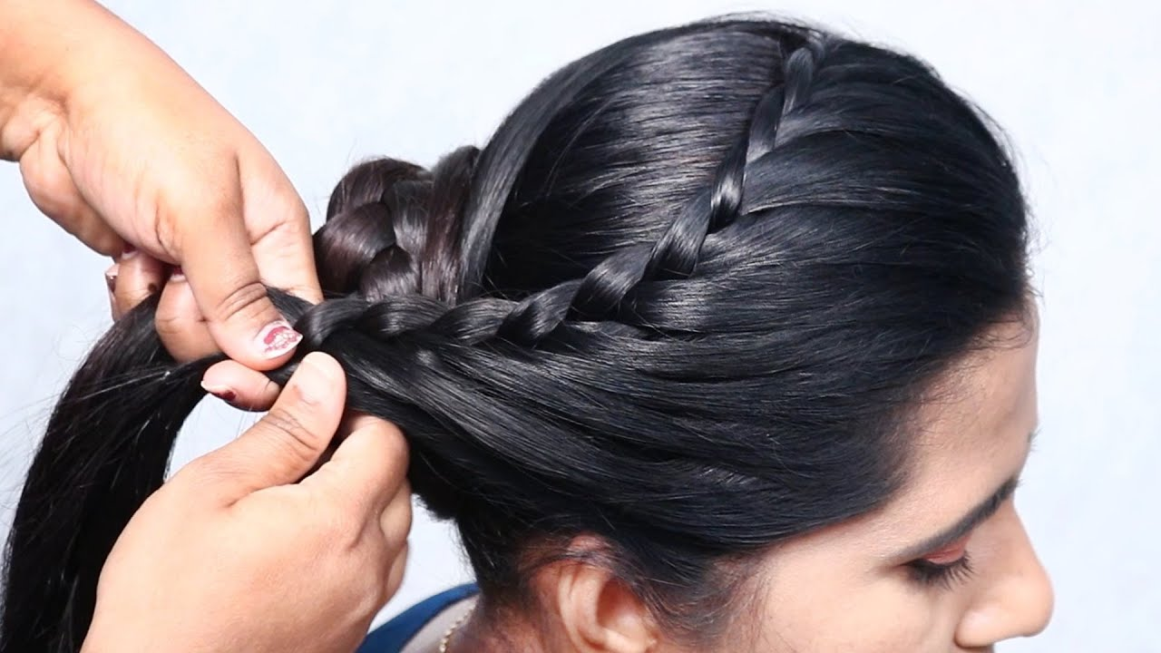 Antique bun hairstyle without using donut | 👩🦱 Cute hairstyles @Bun Hairstyles