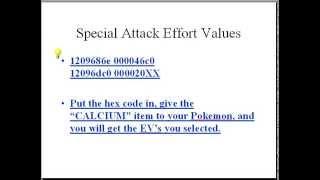Platinum EV Modifier Codes