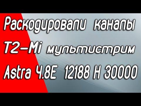 Украинские каналы открыто вещают со спутника Astra 4A 4.8E Раскодирован T2-MI мультистрим. Надолго?