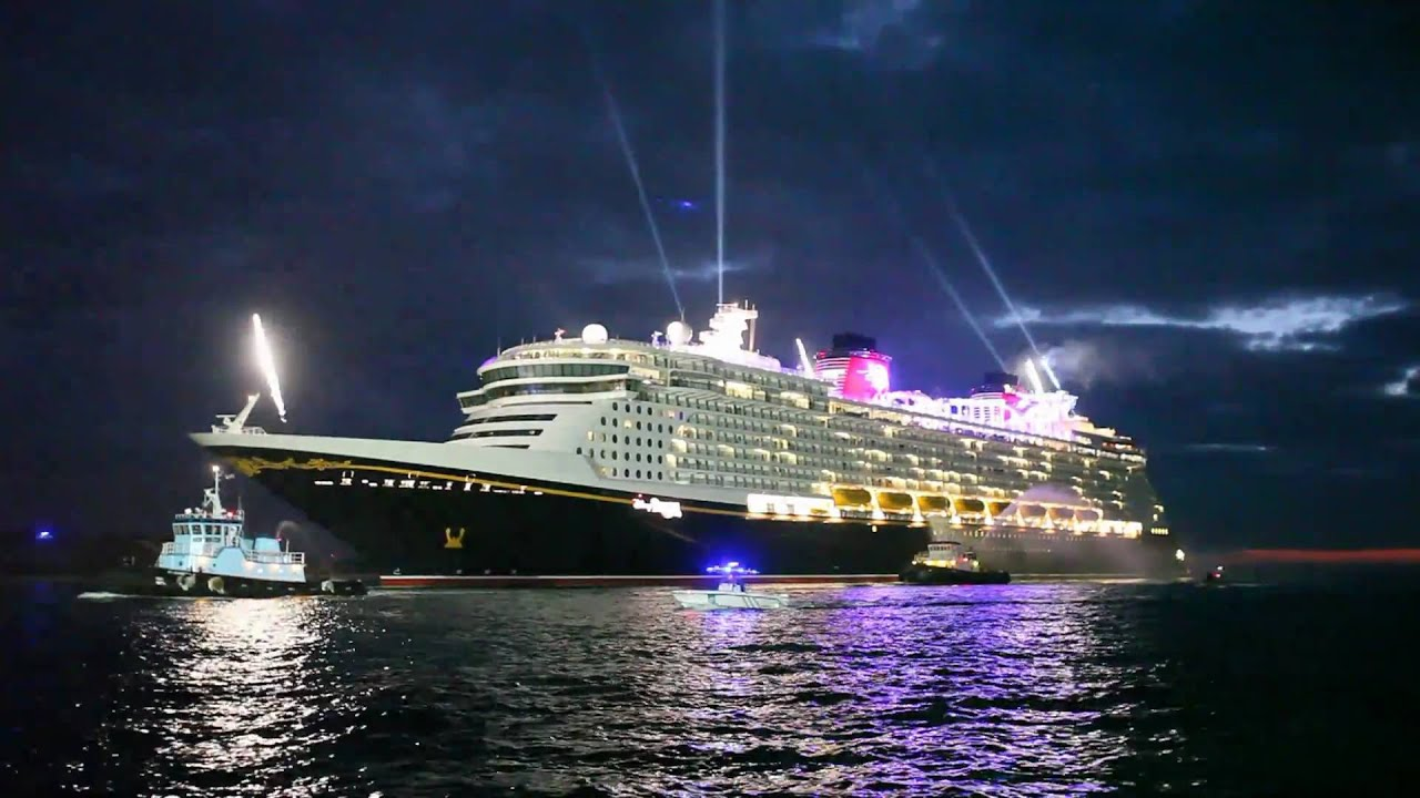 Disney dream from disney cruise line arrives at port canaveral