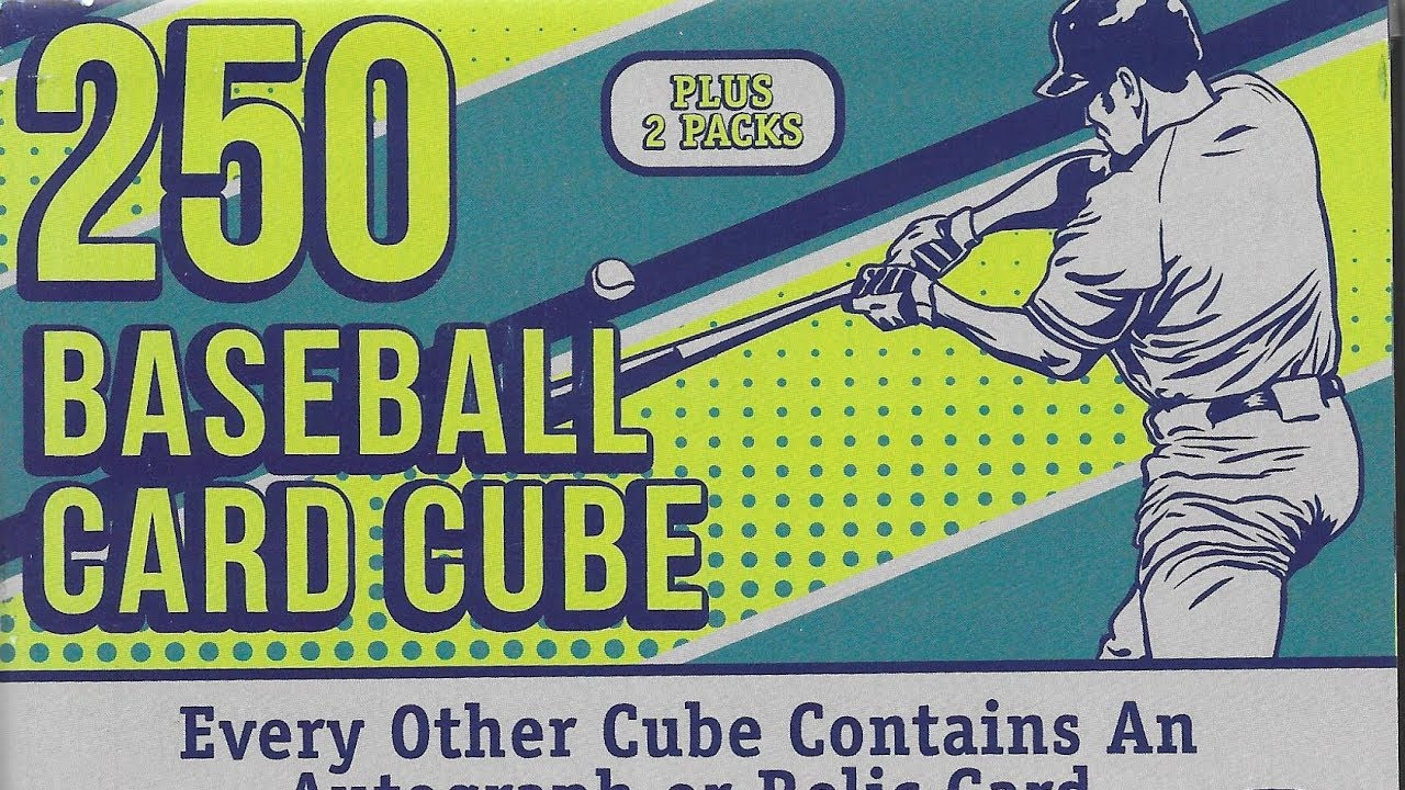 250 Baseball Trading Card Cube From Target 2 Packs And A Autograph