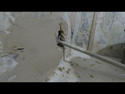Как и чем заделать сквозные Дыры в бетонной стене. В один подход.