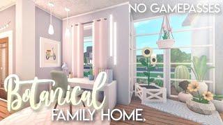 BLOXBURG| Botanical Family Home (No Gamepasses) | House Build