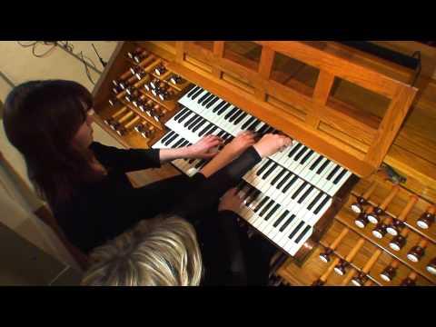 Organ Duo Jaana Jokimies & Irina Lampén plays The Washington Post by Sousa.