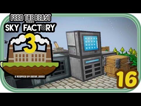 Explosionen und Refined Storage - Minecraft Sky Factory 3 #016 - Deutsch - Chigocraft