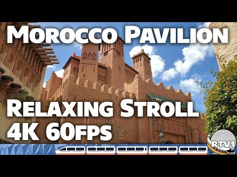 Morocco Pavilion at Epcot - Relaxing Stroll in 4K 60fps - Walt Disney World 2019