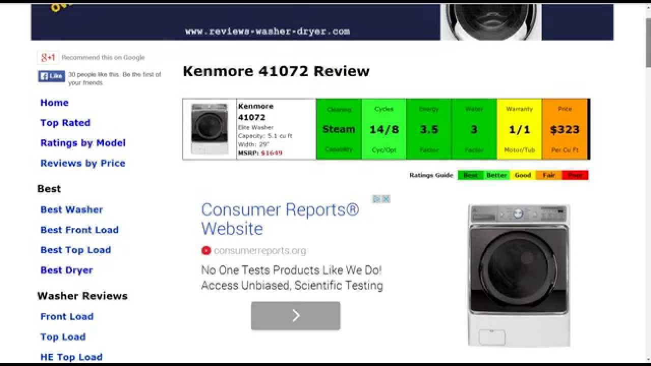 Kenmore 41072 Washer Review