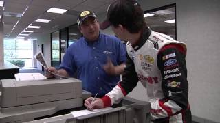 Ryan Blaney Gives Directions