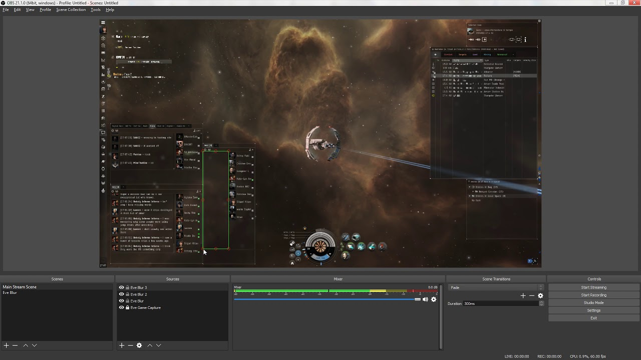 How to make a stream blur filter for Eve Online in OBS