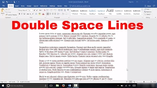 How To Double Space Lines In Microsoft Word (EASY Tutorial)