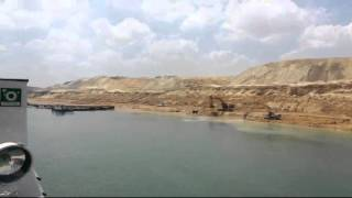 New Suez Canal workers continue to work on the first day
